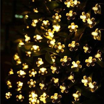 Harga ( 22FT 50 LEDs Flower ) Solar Powered Outdoor String Lights