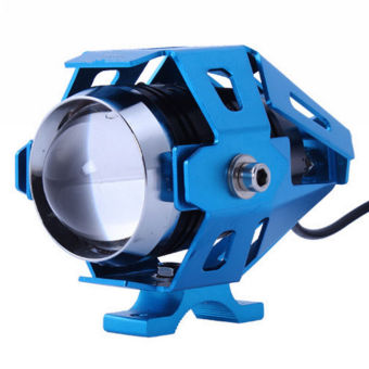 Harga 125W 4 Color Waterproof Motorcycle LED Headlight 3000LMW CREE U5 Motorbike LED Driving Fog Spot Head Light Lamp(Blue) - intl