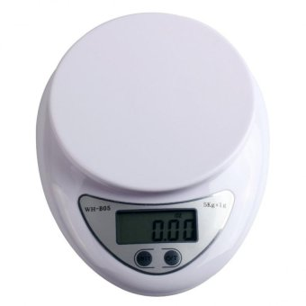 Harga Professional 11lbs/5000g Compact Digital Food Scale Baking Scale White