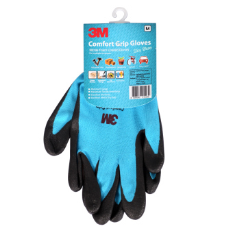 Harga M comfortable slip resistant cold protective nitrile palm coated work gloves industrial gloves work gloves 1 double