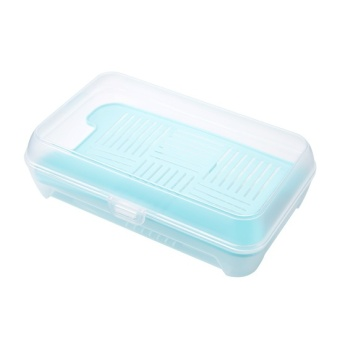 Home home refrigerator plastic storage box large frozen sealed box transparent rectangular seafood frozen food container