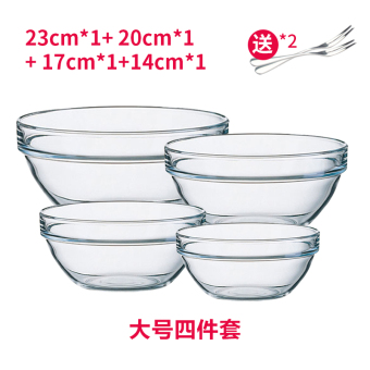 Harga Transparent tempered glass bowl
