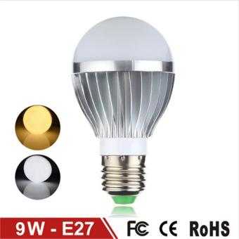 Aluminum LED Bulb 9W E27 LED Lamp Light Fast Heat Dissipation Light LED Long Life Span 85-265V (Warm White) - intl