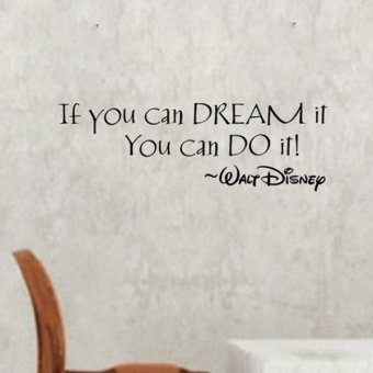 Harga OEM If You Can Dream It Substantial Quote Wall Sticker