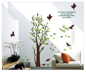 Harga Garden Removable Wallpaper - Wall Sticker Decoration