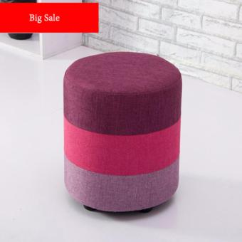 Harga Designer Stool (Rose Red)