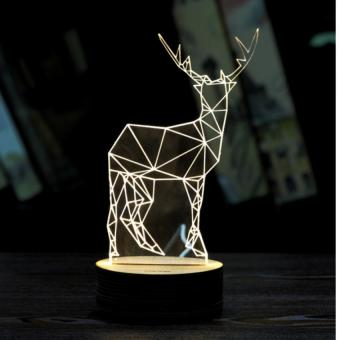 Harga New exotic deer led Nightlight gift DIY 3D decoration lamp