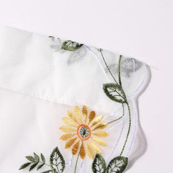 Flower Color Tulle Door Window Curtain (Yellow Daisy ) (EXPORT) - 5