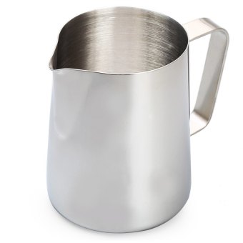 Harga 350ml Stainless Steel Coffee Milk Pitcher Frothing Cup (SILVER) - intl