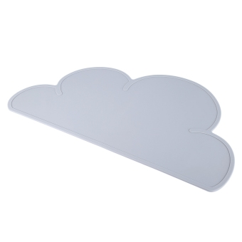Harga Silicone Non-slip Cloud Shape Kids Placemat Table Mat(GRAY)