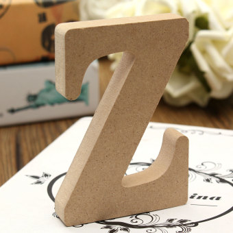 Harga 10x1.5cm THICK Wood Wooden 26 Letters Wedding Birthday Party Shop Alphabet Decor Z - intl