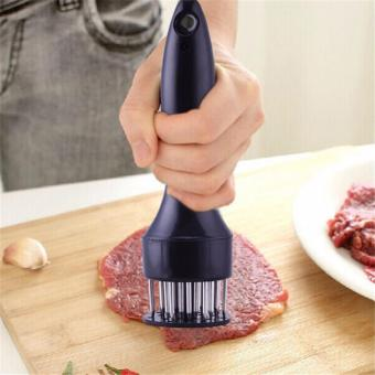 YingWei New Qualified Kitchen Tools Profession Meat Meat Tenderizer Needle With Stainless Steel Kitchen Tools (Black) - intl