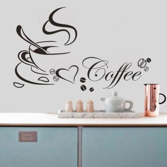 Harga CocolMax Removable Kitchen Decor Coffee Cup Home Decals Vinyl Art Wall Sticker - intl