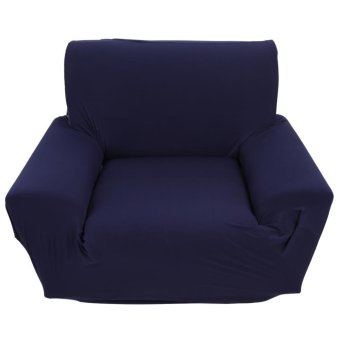 Harga Single Sofa Slipcovers High Elasticity Soft Couch Covers Navy Blue - intl