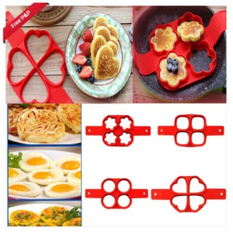Ai Home Pancake Pan Flip Non Stick Perfect Breakfast Maker Egg Omelette Flipjack Tools (Round) - intl - 3