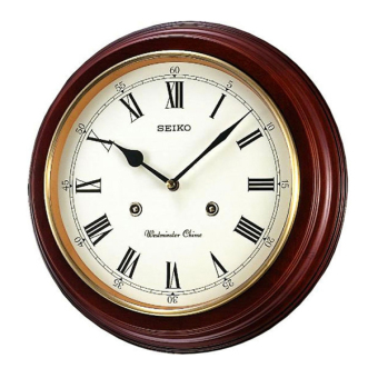 Seiko Wooden Westminster Chime Station Wall Clock