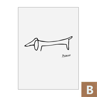 Harga Cloud picasso animal creative nordic abstract paintings decorative painting modern minimalist living room children's room backdrop
