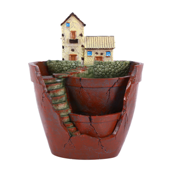Harga 1pcs Hanging Garden Shape Resin Cute Sky Garden Flower Pot For Planting Succulent Plants Garden Decoration Hot - intl