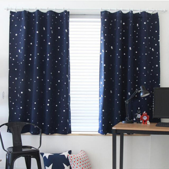 Harga Blackout Thermal Solid Window Curtain Dark blue