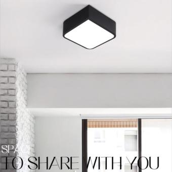 Harga Shifan Led Ceiling Light (Black) 36CM 20W Tricolor (White+Warm Light+Neutral Light) Square Lamp ZY016 Creative Can Be Spliced