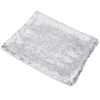 180 x 30cm Glitz Sequin Table Runner for Wedding Party (Silver) - intl