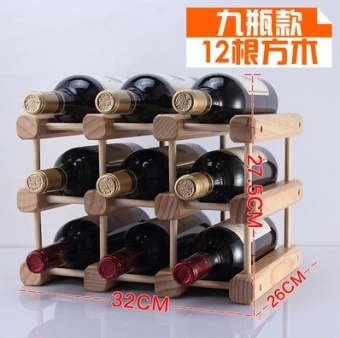 Harga Wood wine rack creative Grape Wine Rack pine ornaments fashion furniture pine multi-bottle wine rack wood color