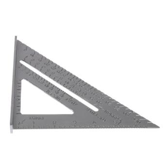 Harga Aluminum Alloy Square Protractor Miter Framing Measurement Silver - intl