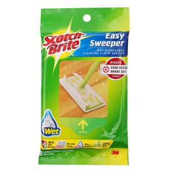 Harga 3M™ Scotch-Brite™ Easy Sweeper Starter Kit - Wet Sheets Refill