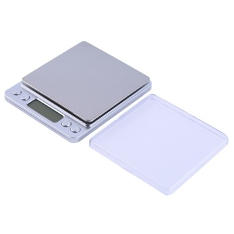 Harga OH WH-I2000 500g x 0.01g LCD Digital Electronic Kitchen Scale for Food Weighing (Silver)