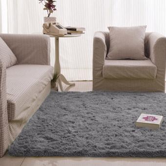 Fluffy Rugs Anti-Skid Rug Carpet Floor Mat Grey - 2