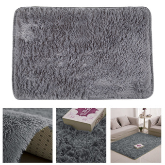 Fluffy Rugs Anti-Skid Rug Carpet Floor Mat Grey - 3