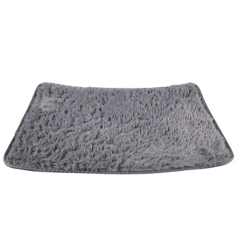 Fluffy Rugs Anti-Skid Rug Carpet Floor Mat Grey - 4