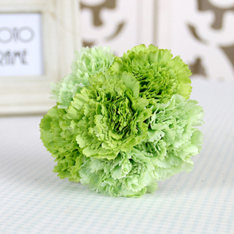 Harga Artificial Silk Flower Carnation Bouquet Wedding ation Green