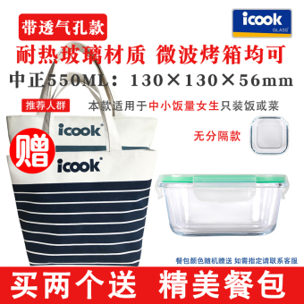 Harga iCook glass food storage container with compartment