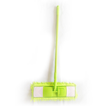 Vibrant Microfiber Mop With 3 Mop Pads (Green)