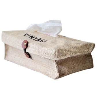 Harga Retro Fluid Style Tissue Box Cover Paper Case Holder Home Car Deco Beige free shipping - intl