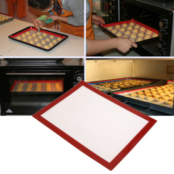 Reusable Baking Trays Mat 40*30Cm Non-Stick Cooking Silicone Heatresistant Baking Mat Bbq Grill Mat Cooking Tool - intl