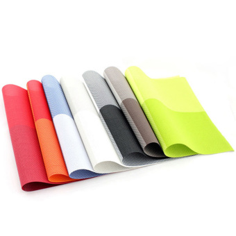 6pc Placemats Coasters Waterproof Insulation Mat Kitchen Dining Table (Khaki) - 5