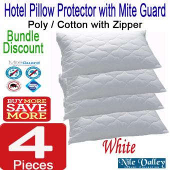 Harga Nile Valley Hotel Pillow Protector with mite guard. Sleep safely.