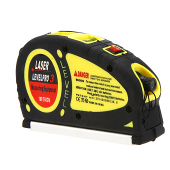 Harga 18-Foot 5.5m Measuring Tape Laser Level Pro3 Measuring Equipment with 2 Way Level Bubbles and Laser Power On/Off