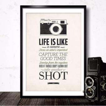 Harga Set of 4 Decorative Vintage Poster-Life is Like Series Poster