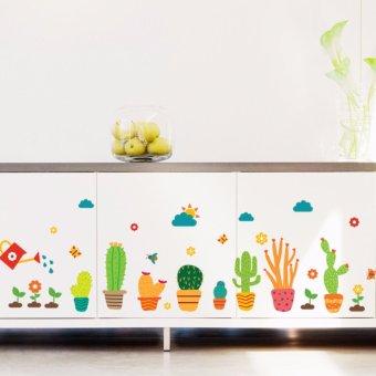 Cartoon Cactus Garden Removable Wall Sticker Decals Mural Kid Nursery Room Decor - intl - 3