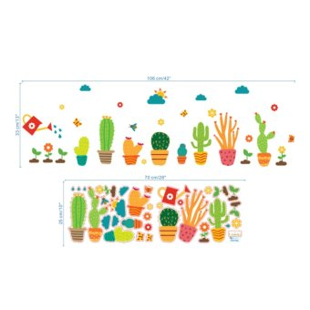 Cartoon Cactus Garden Removable Wall Sticker Decals Mural Kid Nursery Room Decor - intl - 4