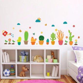 Cartoon Cactus Garden Removable Wall Sticker Decals Mural Kid Nursery Room Decor - intl - 2