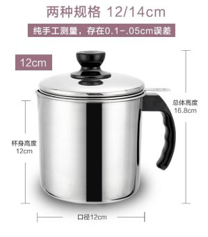 Harga Home kitchen oil can with lid filter network diesel across the thick does not rust Steel Residue Large Capacity of tank back to Oil Cup