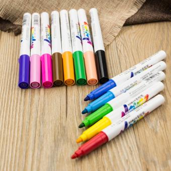 13 x Permanent Fabric Marker Paint Fine Nib Pen T-Shirt Clothes Shoes DIY Graffi - 4