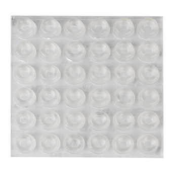 Harga Adhesive Silicone Gel Round Bumper Door Furniture 36Pcs Clear
