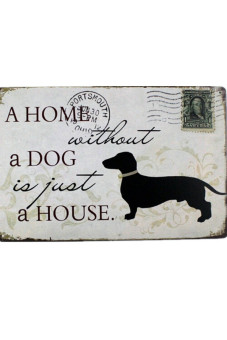 Harga A Home Without a Dog Just a House Vintage Thin Sign Bar Pub Home Wall Decor Metal Frame Art Poster