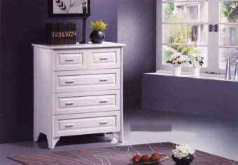 Harga Furniture Living Chest of Drawers (White)