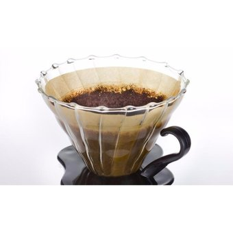 Harga Glass Coffee Dripper For Hario V60 Glass Coffee Filter - intl